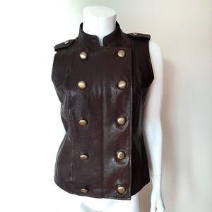 MICHAEL Michael Kors Jackets & Coats - Michael Kors Brown Leather Vest